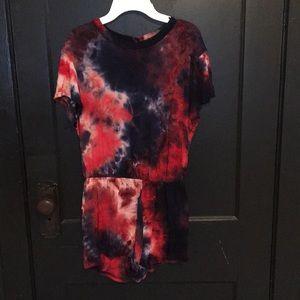 American Apparel tie-dye romper